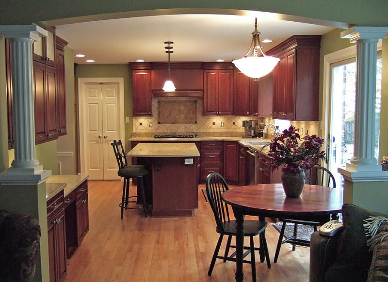 Wood Floor in Kitchen Tile Laminate Carpet in San Diego