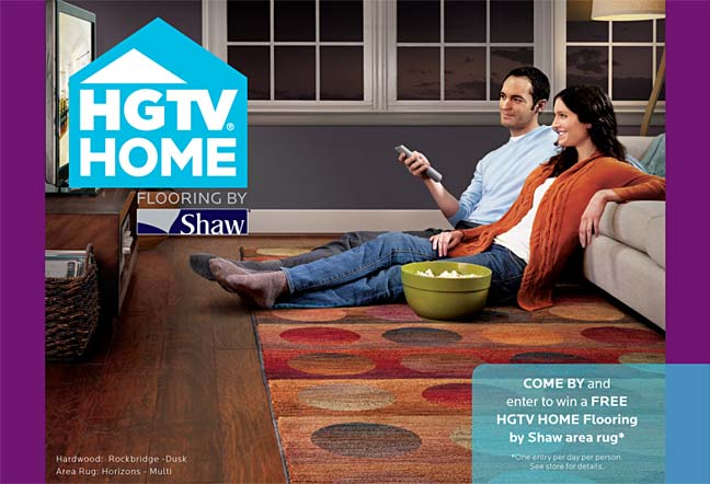 Stop by West Coast Flooring to view our new collection of HGTV Home products by Shaw.