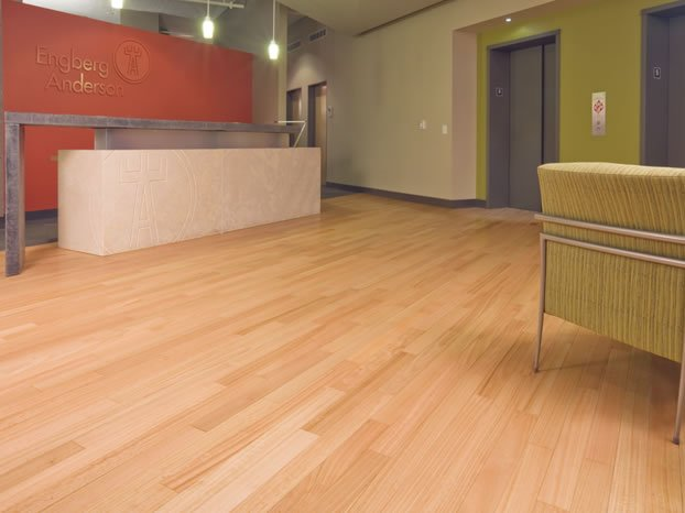 Add timeless beauty and elegance to your office this for Commercial hardwood flooring