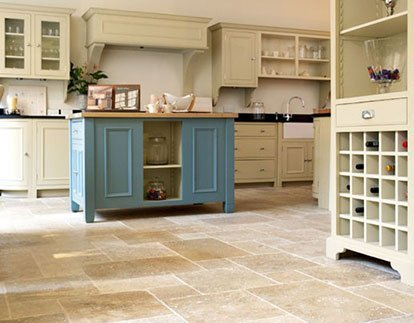 Tile floor usage in the kitchen.